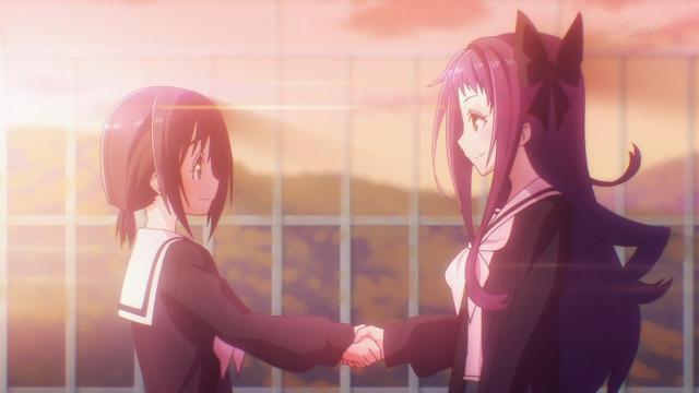 sunset handshake