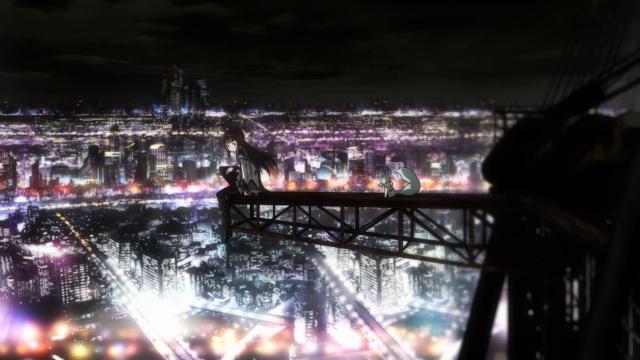 homura above the city