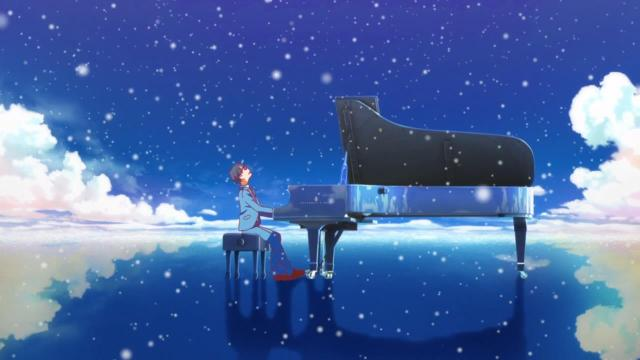snowy piano